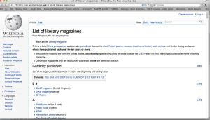 wikipedia literary magazines
