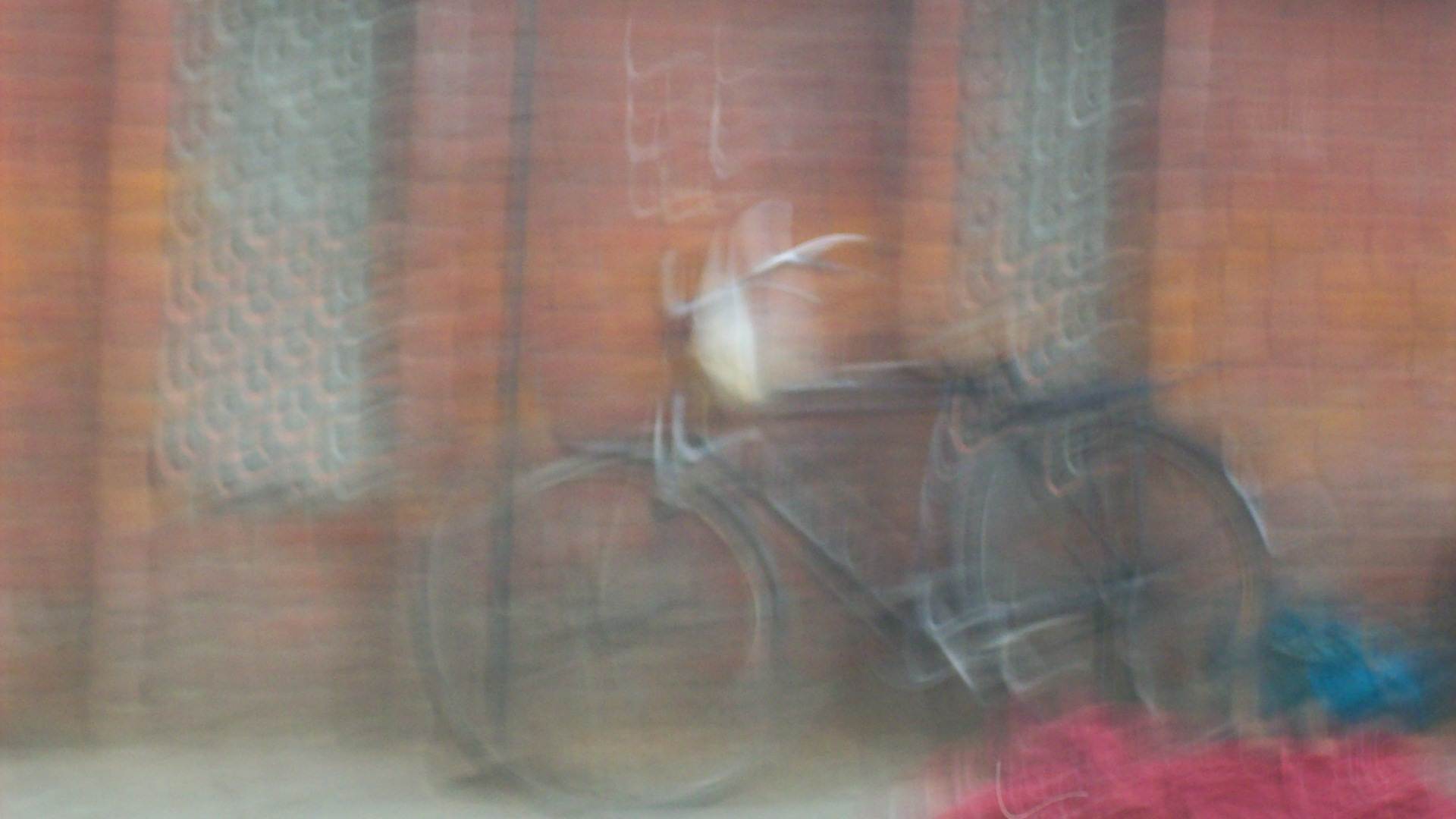 blurry bike