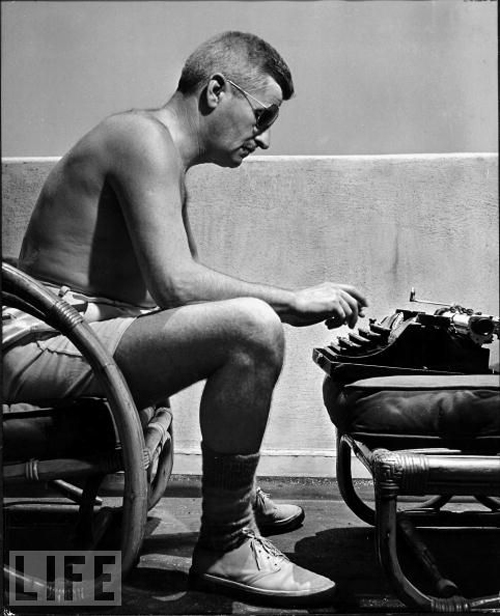 Faulkner and his typewriter
